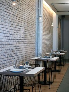 Proposa, a restaurant housed in a former glass factory in Athens' bustling Rouf neighborhood.