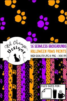 Invitation Design, Invitation Cards, Halloween Silhouettes, Seamless Background, Halloween Coloring, Digital Papers, Diy Paper, Pattern Paper, Diy And Crafts