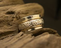 Meditation Spinner Fidget Worry Ring  STYLE04-A on Etsy, $98.00