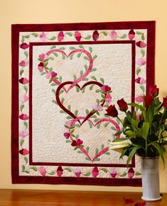 Linked hearts quilt,  in:  Inspirational Applique by Cheryl Almgren Taylor | Martingale