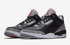 Nike Air Jordan Retro 3 III OG Black Cement White Black Fire Red Grey Size 4 9ebce779b