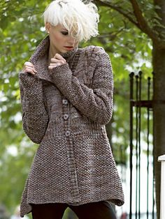 Knitting Patterns Galore - Liwen Jacket (Free knitting patterns)