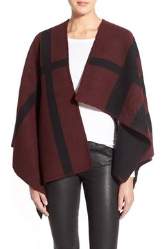 Burberry Prorsum 'Mega Check' Wool & Cashmere Cape available at #Nordstrom