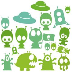 Space Aliens, Doodles, Felt, Robots, Fictional Characters, Robotics, Feltro, Robot, Donut Tower