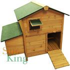 Wooden Chicken Coop Portable Hen House Rabbit Hutch Roost Egg Nest Box Pet Cage - http://pets.goshoppins.com/small-animal-supplies/wooden-chicken-coop-portable-hen-house-rabbit-hutch-roost-egg-nest-box-pet-cage/