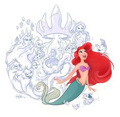 ArtStation - The Little Mermaid - A Mermaid's Tale, Whitney Pollett