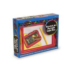 Melissa and Doug Scratch Art Portable Light Box