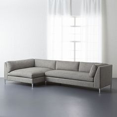 decker 2-piece sectional sofa - Salt and Pepper | CB2