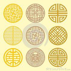 Korean Fan Pattern . Stock Images - Image: 32909614