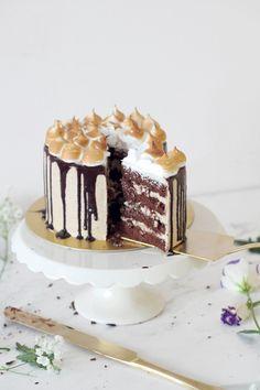 S'mores Layered Cake | Natalie Eng