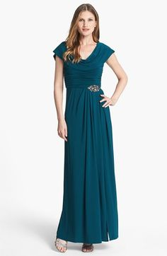 11b7ada7dfa6 Patra Draped Neckline Embellished Jersey Gown (Regular   Petite) available  at  Nordstrom Festliche