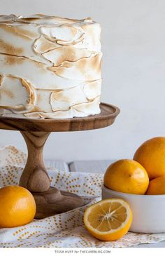 Lemon Meringue Cake | with lemon curd and toasted meringue frosting ...
