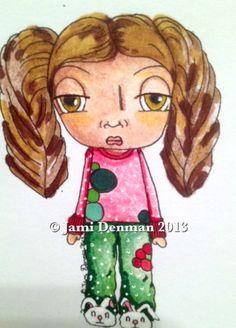 Talula Pajama Girl digi Available on zibbet.com/talularouge