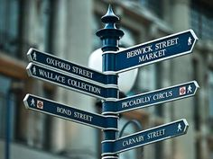 Signposts in London