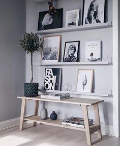 ✔ 40 modern living room ideas that will inspire you 8 – Home Design Inspirations Home Living Room, Living Room Decor, Bedroom Decor, Wall Decor, Tv Decor, Home Interior, Interior Decorating, Interior Design, Picture Shelves