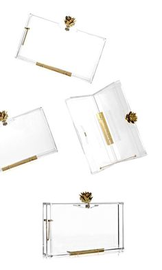 . . . if you have been reading for a while, you will know about a certain fondness for lucite, whether in heels {here &charlotte olympia's pandora plexiglass clutch: pretty sure I've pinned this before, but it's worthy of a double-pin