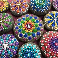 With a vivid imagination and belief in the healing power of colors, an artist transforms ordinary stones into gorgeous, colorful mandalas.