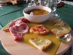 Anyone hungry? Delicious food from a farm in Tuscany, Italy.