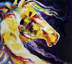 No. 83 Play Boy Contemporary Daily Oil Painting Horse Art, painting by artist Laurie Justus Pace