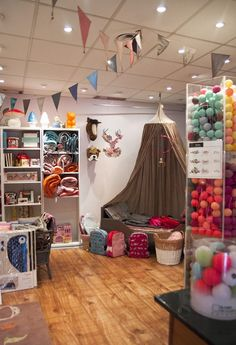 Shop interior, visual merchandising, children's store Pouic Land, Gaillac, France