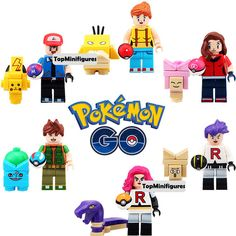 Pokemon Go Lego compatible 12 custom minifigs by TopMinifigures