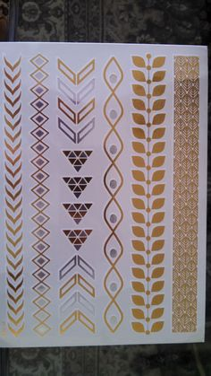 CYBER MONDAY DEALS! 4 sheets Flash Temporary Metallic Tattoos Gold / Silver / Skin Jewelry Henna / 4 Sheets in Total - Great Deal!