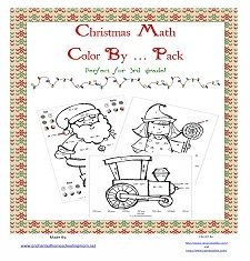 Christmas Math Color By … 3rd Grade Printable Pack with Freebie