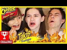TAKIS FUEGO & FLAMIN' HOT CHEETOS CHALLENGE! KID'S VERSION! | KITTIESMAMA - YouTube