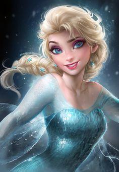 Elsa by sakimichan on deviantart frozen эльза, дисней, принцессы. Walt Disney, Frozen Disney, Disney Pixar, Elsa Frozen, Disney And Dreamworks, Disney Love, Disney Magic, Disney Art, Disney Characters
