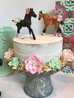 - Horse - Pony Cake Topper Horse Party Decorations Girl Birthday Pony Party Brown Ponies Horses Equestrian Riding Party Vintage Pony Party Pink Mint Pony Cake Topper Horse Party Decorations for a Girly Birthday Horse Theme Birthday Party, 2nd Birthday Parties, 7th Birthday, Girl Horse Party, Little Girl Birthday Cakes, Horse Birthday Cakes, Birthday Ideas, Cake Birthday, Birthday Sweets