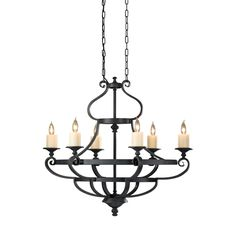 769/Grand and gracious wrought iron fixtures are what this King's Table lighting collection by Feiss is all about. Picture a medieval banquet table with multiples of these fixtures illuminating the room.