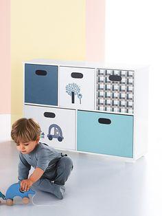 Meuble de rangement 6 casiers en escalier TAUPE+BLANC+ROSE+FUCHSIA+ ...