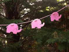 Pink Elephants Garland