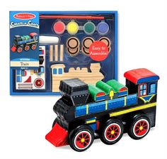 Decorate Your Own Wooden Train Engine