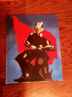 Mighty Thor Stencil