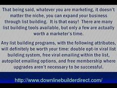 Build targeted lists fast with viral marketing and opt-in lists - http://downlinebuilderdirectblog.com/build-targeted-lists-fast-with-viral-marketing-and-opt-in-lists/