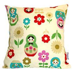 babushkas handmade cushion by love frankie | notonthehighstreet.com