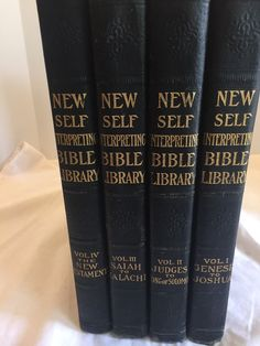 The New Self Interpreting Bible Library 4 Volumes HB 1924 Illustrated Bible Educ