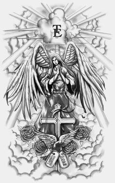 Guardian Angel Full-sleeve Tattoo by CrisLuspoTattoos.deviantart.com on @deviantART