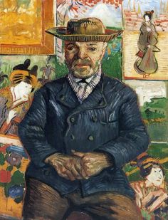 Art of the Day: Van Gogh, Portrait of Père Tanguy, Winter 1887-88. Oil on canvas, 65 x 51 cm. Private collection.