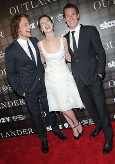 Caitriona Balfe Photos - (L-R) Actors Sam Heughan, Caitriona Balfe and Tobias Menzies attend the 'Outlander' series screening at 92nd Street Y on July 28, 2014 in New York City. - 'Outlander' Screening in NYC