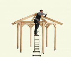 Build the pavilion yourself: Instructions + 25 elegant design ideas Diy Gazebo, Gazebo Plans, Backyard Gazebo, Garden Gazebo, Garden Sun Shade, Hot Tub Deck, Building A Pergola, Garden Buildings, Outdoor Areas