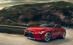 Scarica sfondi Lexus LC 500, strada di montagna, 2017 auto, 4k, il movimento, le automobili giapponesi, Lexus