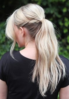 a more relaxed braided ponytail