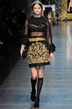 Baroque Inspired at Dolce & Gabbana Fall 2012