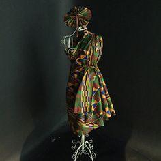 Sankofan dress and fan