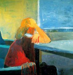 Richard Diebenkorn  Woman in a window - 1957