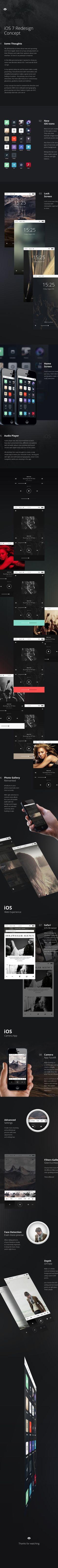 iOS 7 Redesign Concept on Behance