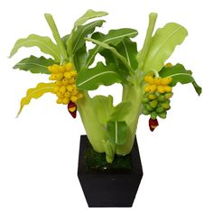9' Artificial Banana Tree made from Clay, Artificial plants, Clay Banana Trees, Tabletop trees * Visit the image link more details.