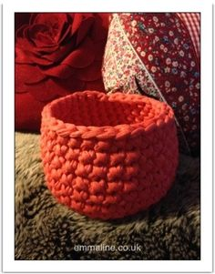 Crochet Basket Pattern with Hoooked Zpagetti